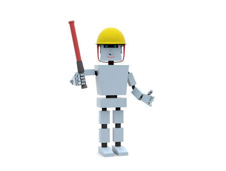 Robot engineer. 3d render illustration