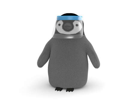 Penguin with face guard 写真素材