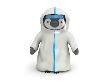 Penguin wearing protective suits 写真素材