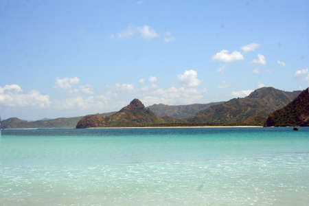 lombok: Selong Belanak Beach, Lombok, Indonesia Stock Photo
