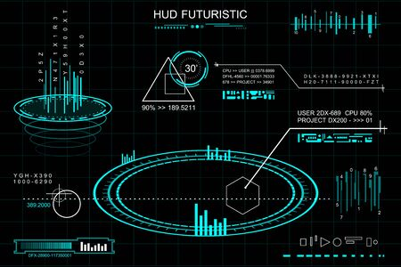 Vector art of futuristic theme. Çizim