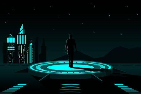 Vector illustration with futuristic concept.