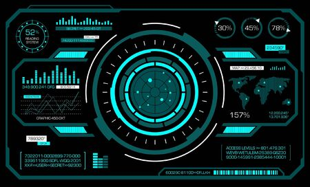 Hud futuristic interface. Vector art. 일러스트