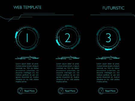 Futuristic web template. Vector illustration.