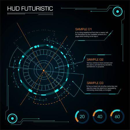 Set of futuristic hud interface.