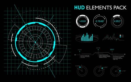 Futuristic elements of the hud interface.