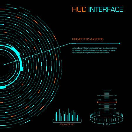 Hud futuristic interface. Vector image.