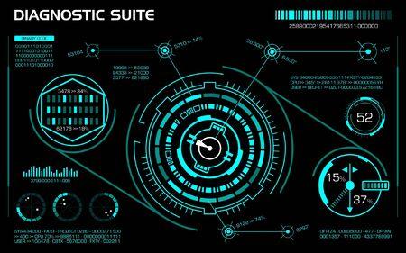 Diagnostic suite concept. Vector illustration. Ilustração Vetorial