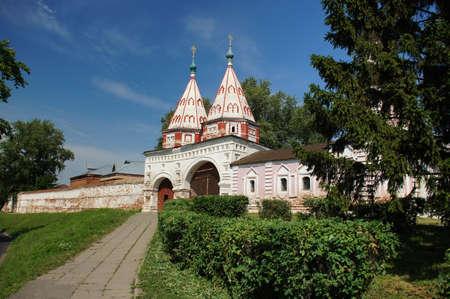 june 25: Suzdal, Russia - June 25, 2011: Rizopolozhensky Monastery Editorial