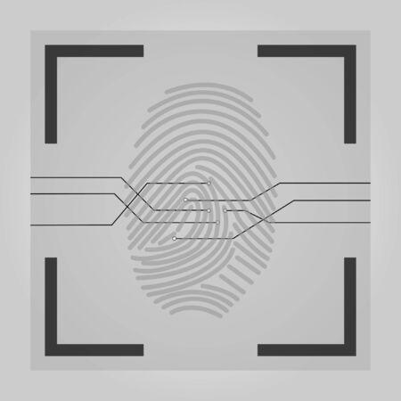 User identification. Fingerprint Ilustrace