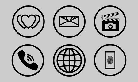 Set of universal contour icons. Vector Icons