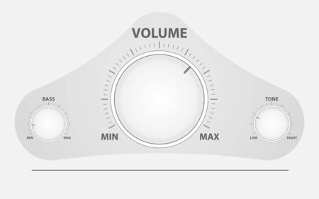 The circular mixer adjusts the sound, tone, bass. Adjustment button.