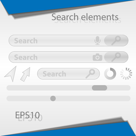 Search Elements For The Web Interface Search Bar Arrows Scroll