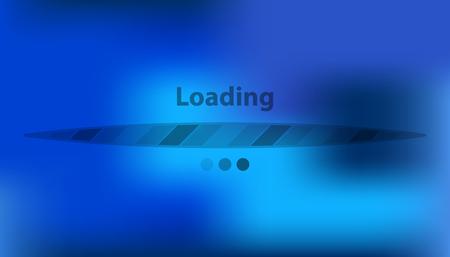 Boot screen with transparent strip. Vector loading background interface. Illusztráció