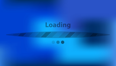 Boot screen with transparent strip. Vector loading background interface. Illustration
