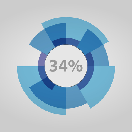 Futuristic circle, download information. White circle loadings. Circle loading on a white background. Loading circle, percent icon.