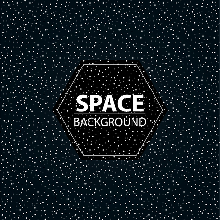 Stylized space banner. Starry sky, vector elements. Background black starry space.