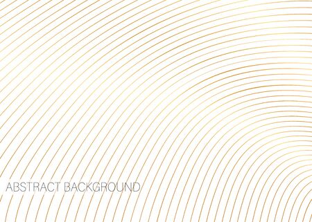 Vector background of white color with golden stripes. Abstract illustration.