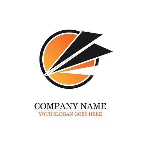 Vector logo orange. Round logo template for company.