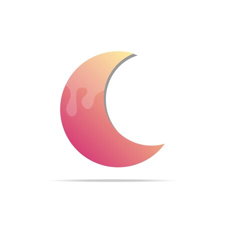 Vector moon  on a white background. Moon icon. Illustration