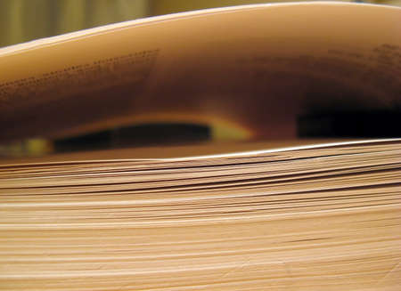 univercity: A close up of the side of a large book