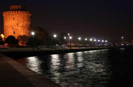 City of Thessaloniki Greece under the night sky