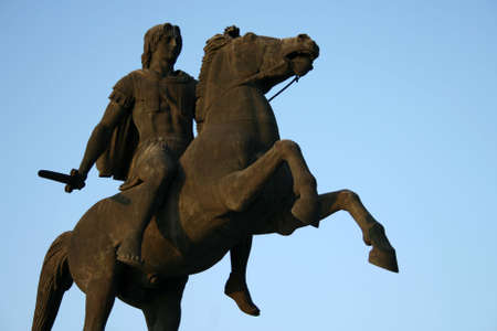 The statue of Alexander the Great on his horse