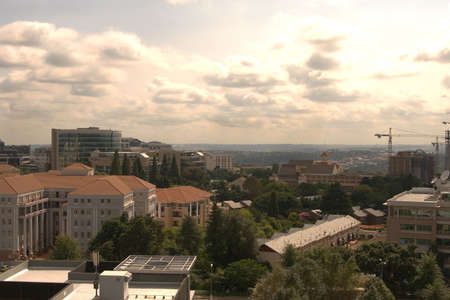 View of the city of Johannesburg before sunset