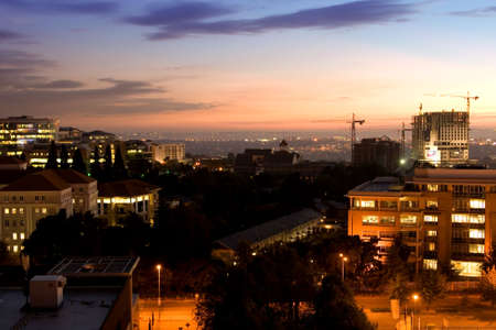 A view of Johannesburg under the sunrise sky
