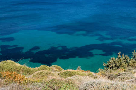 Deep blue sea view from a hill Stock Photo - 2702520