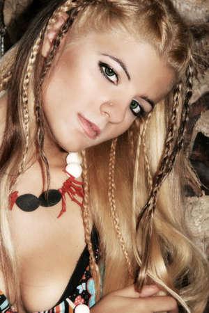 Beautiful blonde young woman