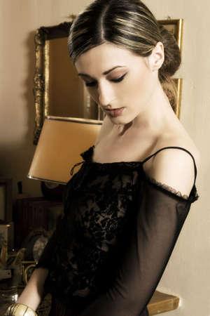 A beautiful brunette young woman portrait