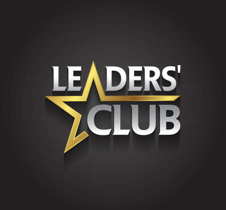 leaders: graphic silver and gold symbol