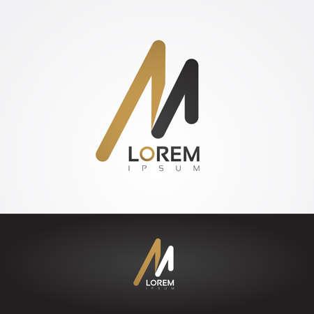 to design: Vector graphic design element - M letter