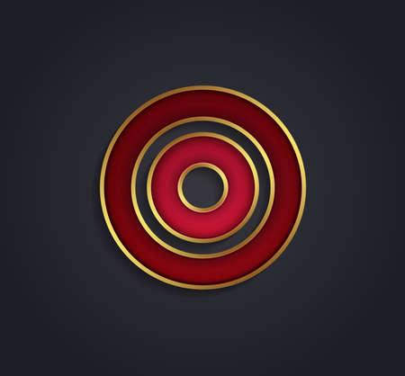 cerchione: Bella vettore rosso rubino grafica alfabeto con bordo oro  lettera O  simbolo Vettoriali