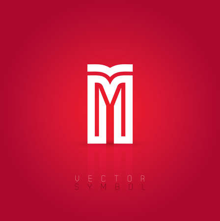 illustration line art: Vector graphic creative line alphabet  Letter M