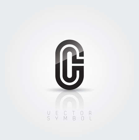 Vector graphic elegant and creative line alphabet  Letter C  Vector
