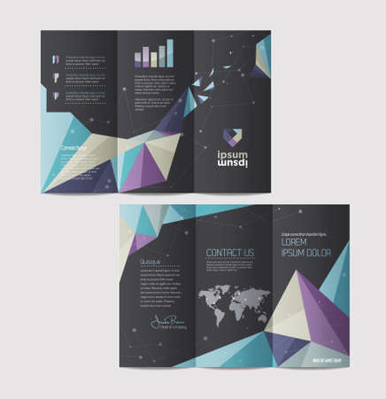 book publisher: Vector graphic elegant abstract business brochure design with spread pages Illustration