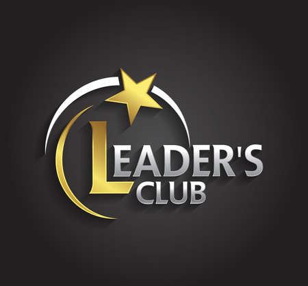 leaders: Vector graphic silver and gold symbol for company leaders with star shape