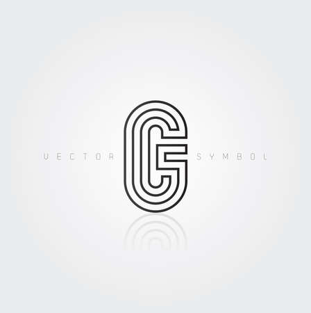 Vector graphic elegant and creative line alphabet . Letter G  Vector