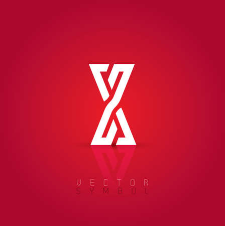 Vector graphic elegant and creative line alphabet . Letter X  Vector