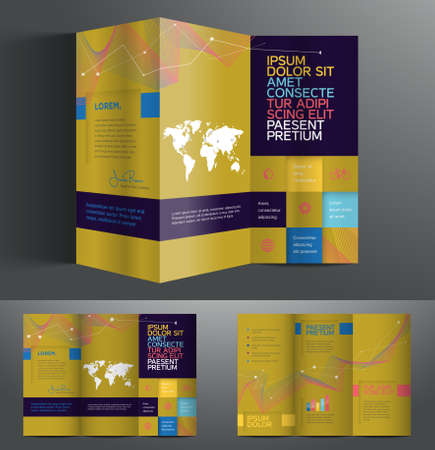 publisher: Vector graphic elegant abstract business brochure design with spread pages Illustration