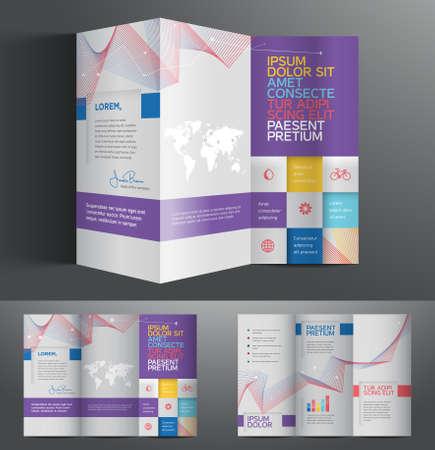 Grafica vettoriale elegante astratto brochure Business Design con pagine spread Archivio Fotografico - 36402595