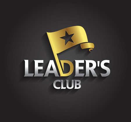 lideres: Gr�ficos vectoriales de plata y oro s�mbolo de la bandera y de la forma de estrella