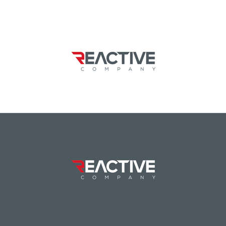 Vector graphic reactive symbol for your company with sample text