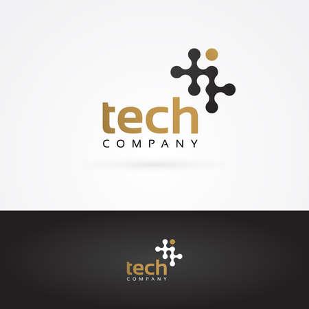 technology logo: Vector graphic wavy graphic element