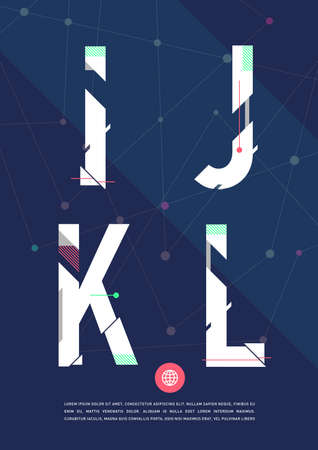 cool backgrounds: graphic alphabet in a set.