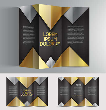 graphic professional business brochure design for your company Illustration