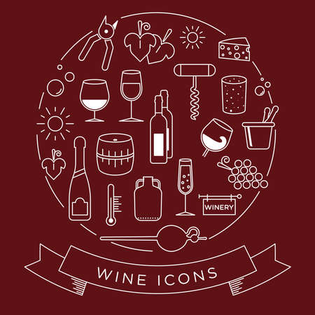 fortified: graphic wine icon se. With minimalist lines