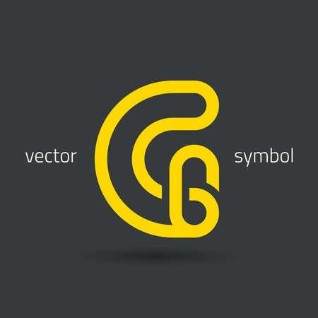 decorative letter: graphic decorative design alphabet  letter G  symbol